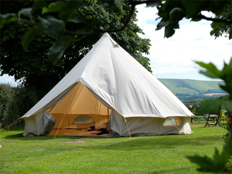 Glamping In A Canvas Bell Tent