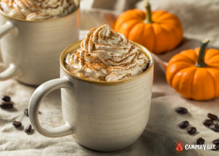 Tasty pumpkin pie spice latte